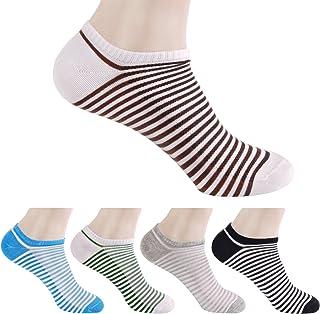 HBF, 5 Pares Calcetines Cortos Hombre Algodon Calcetines Invisibles Hombre Multicolor Calcetines Barco