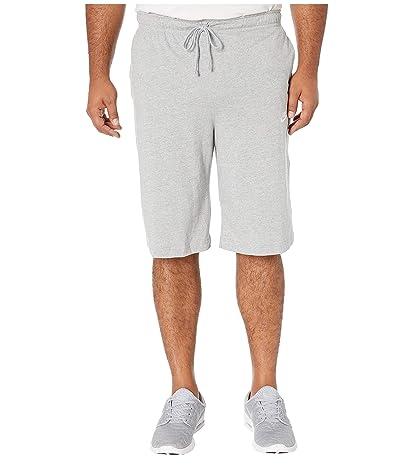 Nike Big Tall NSW Club Jersey Shorts (Dark Grey Heather/White) Men