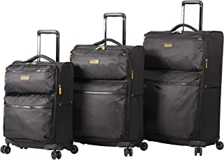 Lucas Designer Luggage Collection - 3 Piece Softside Expandable Ultra Lightweight Spinner Suitcase Set - Travel Set includ...