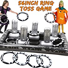 Giant Tombstone Ring Toss Games Halloween Party Game Favors for Kids Inflatable Spider Witch Hat Ring Toss Game Halloween Party Decor Outdoor Carnival Game Classroom Indoor School Yard