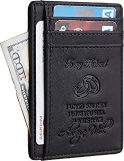 Toughergun Wife To Husband Father Mother to Son Gift Best Anniversary Christmas Birthday Gifts Slim Wallet
