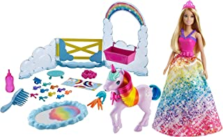 Barbie Dreamtopia Unicorn Pet Playset with Barbie Princess Doll, Unicorn with Color Change Potty Feature & 18 Accessorie...
