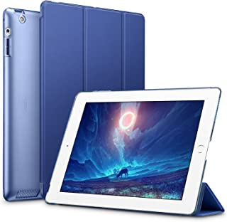 ESR Yippee Smart Case for iPad 2 3 4, Smart Case Cover [Synthetic Leather] Translucent Frosted Back Magnetic Cover with Auto Sleep/Wake Function [Light Weight] (Navy Blue)