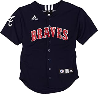 MLB Atlanta Braves Screen Print Baseball Jersey Boys'