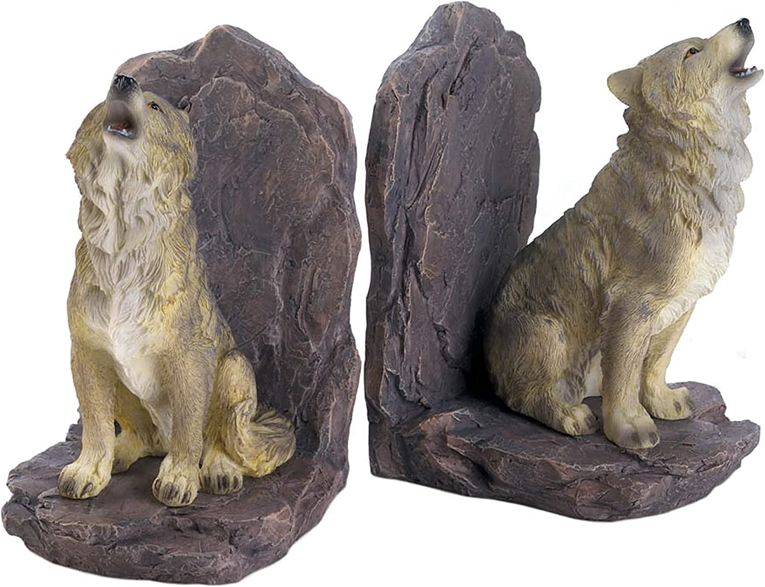 Howling Many popular brands Seasonal Wrap Introduction Wolf BOOKENDS