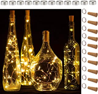 SFUN Wine Bottle Lights with Cork, 5 Dimmable Modes with Timer 10 Pack -12 Replacement..