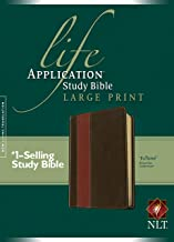 NLT Life Application Study Bible, Second Edition, Large Print, TuTone (Red Letter, LeatherLike, Brown/Tan)
