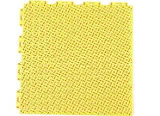 Yellow Color Modular Interlocking Multi-Use Deck Tile Safety Floor Matting (12 Pack)
