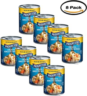PACK OF 8 - Progresso Chicken & Homestyle Noodles Soup, 19 oz