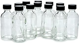 2 oz clear glass bottles