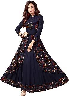 Madhuram Textiles Women's Rayon Gown Style Kurti