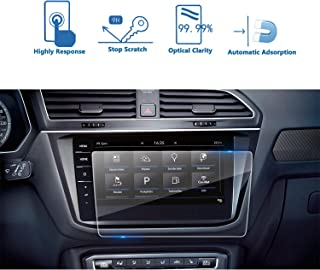 LFOTPP 2017 2018 Volkswagen VW Tiguan in-Dash Screen Protector, HD Clear Tempered Glass Car Navigation Screen Protective Film,Anti Scratch Touch Smooth (9.2inch) The All-New