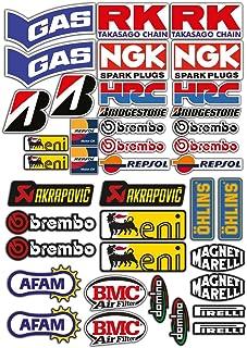 Adhesivos stickers, kit de 2 para motos de motocross, panel entero de 40 unidades