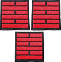 """GI Joe Snake Eyes 3 1/4"""" Wide Embroidered Set of 3 Patches"""