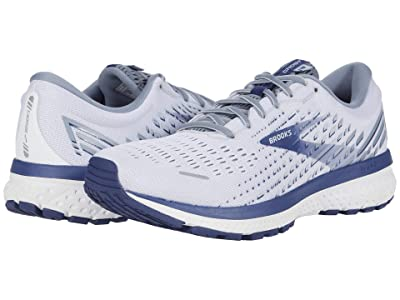 Brooks Ghost 13 (White/Grey/Deep Cobalt) Men