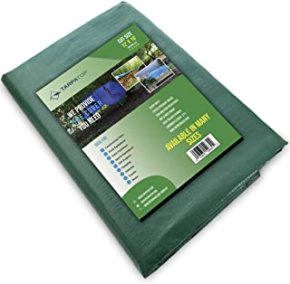 Waterproof Extra Heavy-Duty Tarp 12X16 Multi-Purpose Poly Tarpaulin with Aluminum Grommets Rot Rust and UV Resistant Cover...