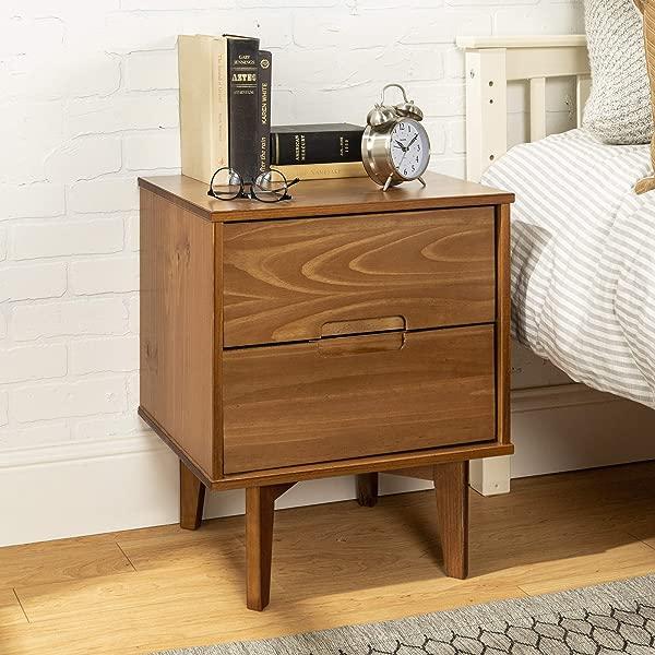 WE Furniture AZR2DSLNSCA Nightstand Caramel