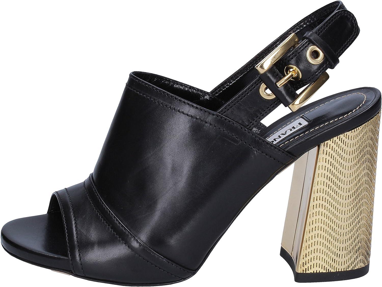 FRANCESCO SACCO Sandalen Damen Leder schwarz schwarz  authentisch