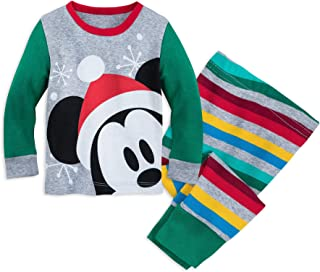 Disney Santa Mickey Mouse PJ PALS Set for Baby Size 12-18 MO Multi