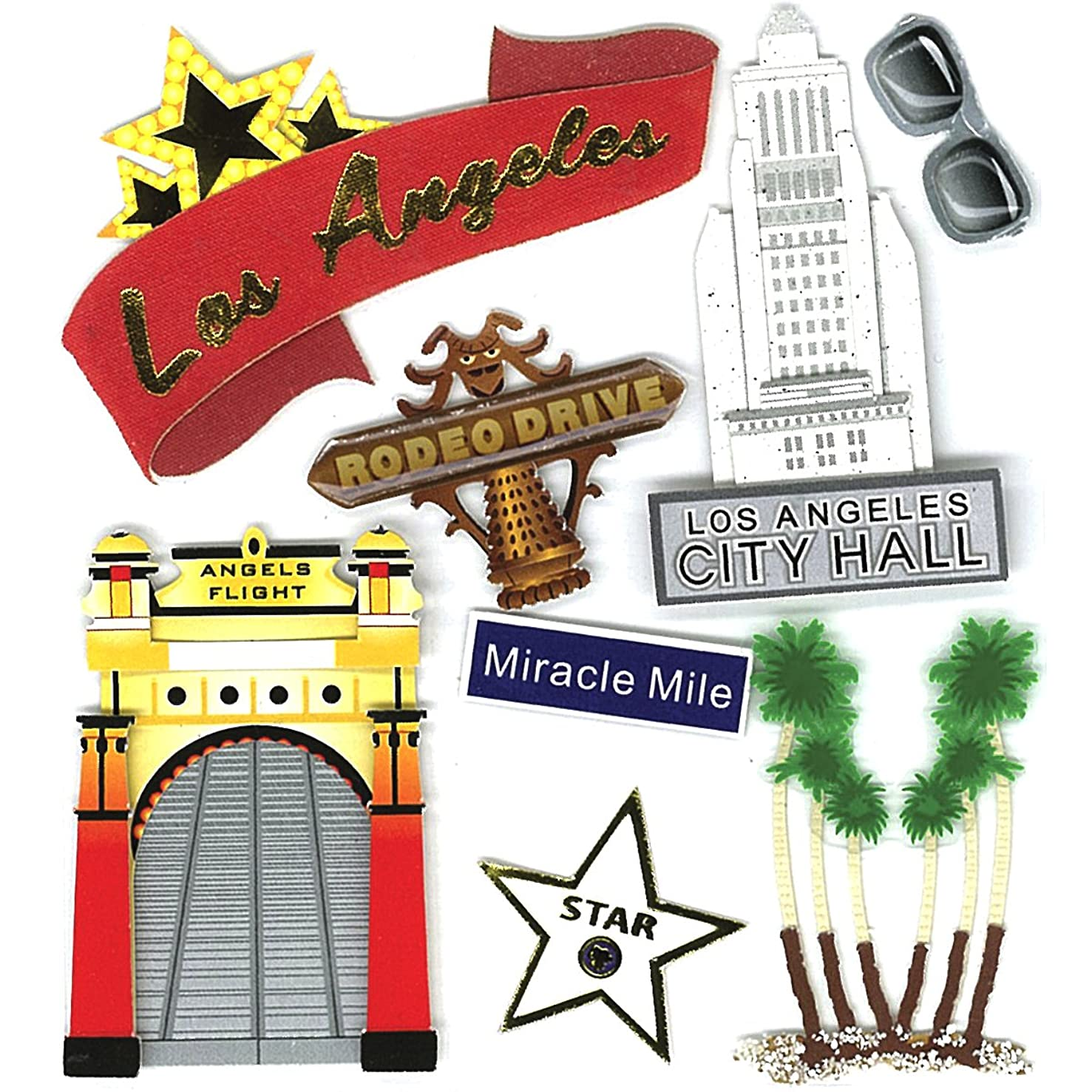 Jolee's Boutique Los Angeles Dimensional Stickers