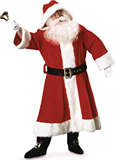 Rubie's Plush Old-Time Santa Suit With Hood Costume