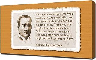 Mustafa Kemal Ataturk Quotes 4 - Canvas Art Print