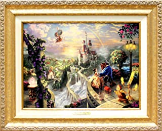 Disney ディズニー/トーマス・キンケード「美女と野獣/フォーリン・ラブ」 【並行輸入品】 (ゴールド)