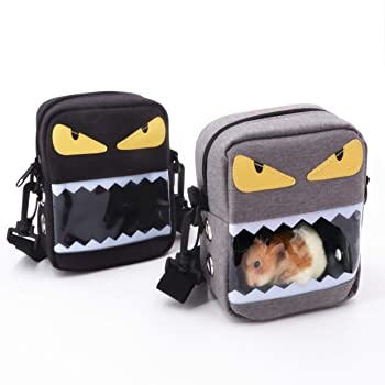JanYoo Hamster Carrier Portable Travel Bag Small Animal Pouch for Hedgehog Rat Sugar Glider