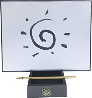 Samadhi Board: Water Drawing Set for Painting, Sketching & Meditation with Natural Wood Brush & Yogic Stand
