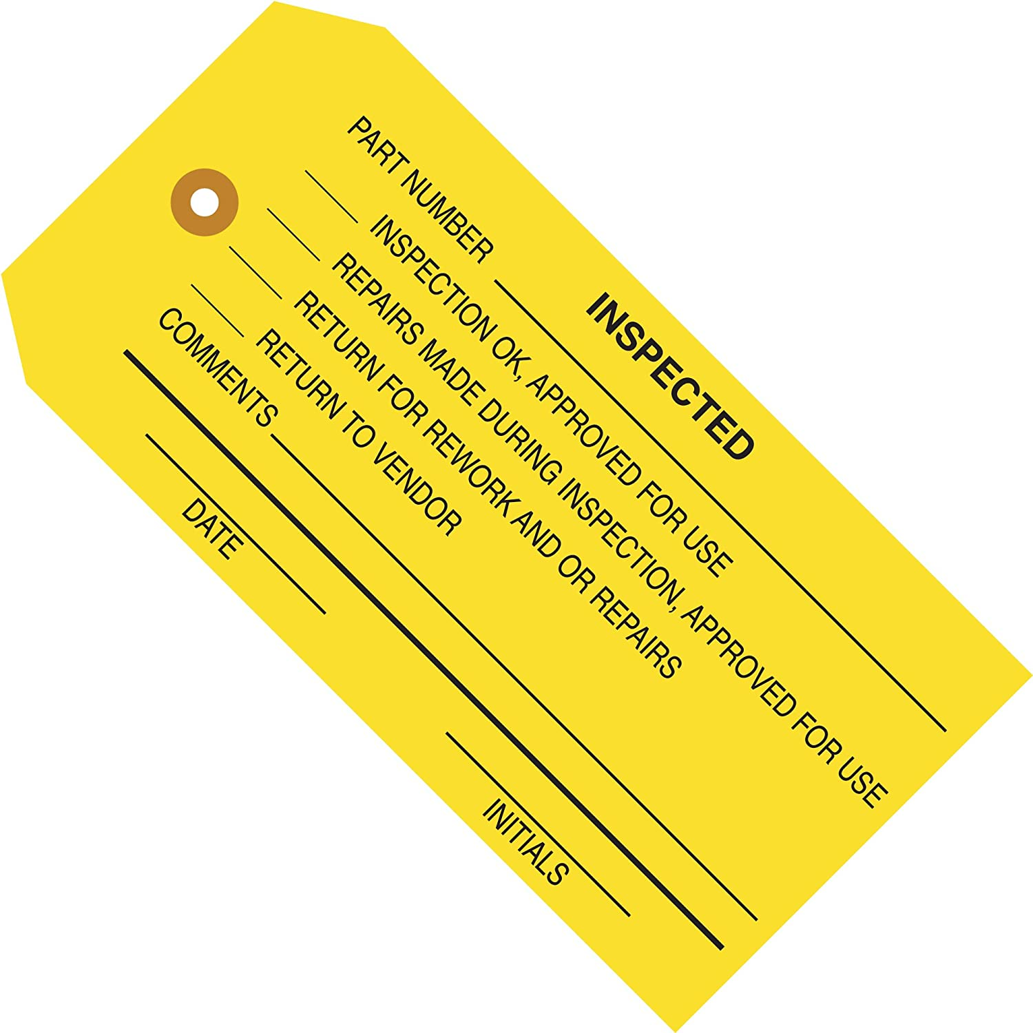 Inspection Tags,