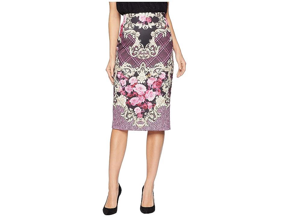 eci Printed Scuba Skirt (Wine) Women