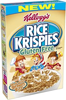 Kellogg's Rice Krispies Gluten Free Cereal, Whole Grain Brown Rice … (2 Pack)