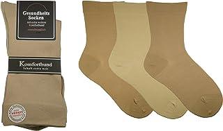6 pares de calcetines de salud para hombre, diabéticos, caña extra ancha, especialmente aptos para venas