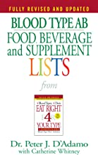 Blood Type AB Food, Beverage and Supplement Lists (Eat Right 4 Your Type) (English Edition)