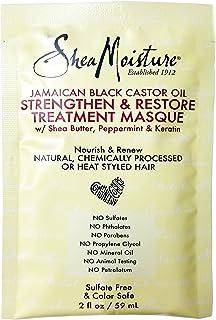Shea Moisture Jamaican Black Castor Oil Strengthen&Restore Treatment Masque 2oz (2 Pack)