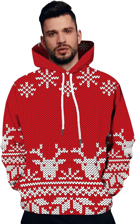 Christmas Sweatshirts Mens Fashion Pullover Hooded Sales Fort Worth Mall Sw Drawstring