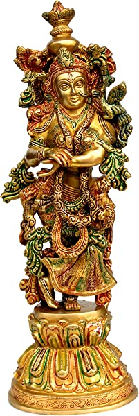 ESplanade Brass Radha Big Size Brass Radha Only Of Radha Krishna Murti Idol Statue Sculpture 21 Big Radha Colored