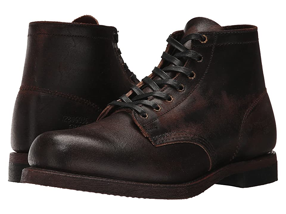 Frye Prison Boot (Chocolate Waxed Suede) Men