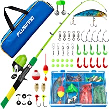 PLUSINNO Kids Fishing Pole, Rainbow Series Portable...