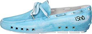 ISHU Loafer Flats Mens Turquoise