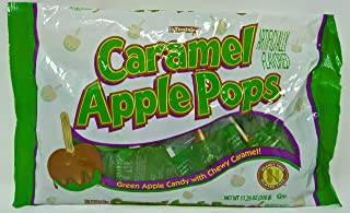 Caramel Apple Pops by Tootsie, Green Apple with Chewy Caramel, 11.25oz bag, 17 count