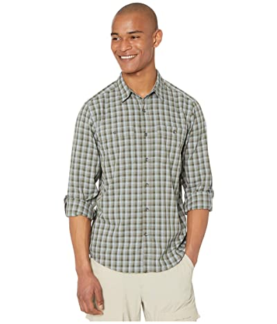 Royal Robbins Vista Dry Plaid Long Sleeve Shirt (Dark Olive) Men