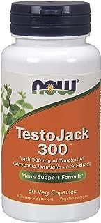 NOW® TestoJack 300™, 60 Veg Capsules