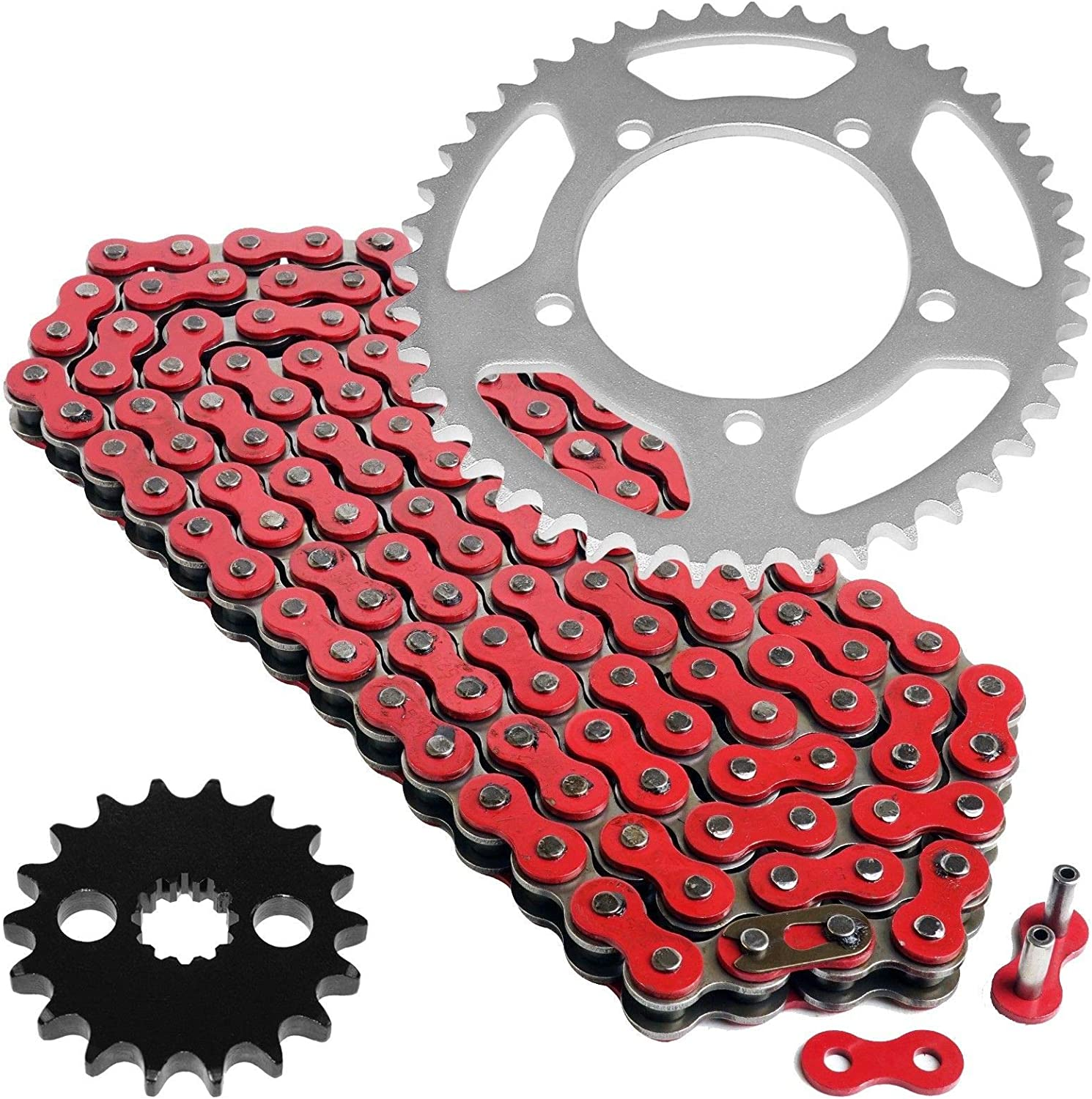 Caltric Red Drive Chain and Kit Compatible with Albuquerque Mall Suzuki Max 50% OFF Sprocket