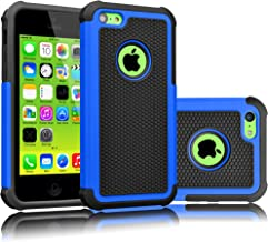 Tekcoo iPhone 5C Case, [Tmajor Series] [Blue/Black] Shock Absorbing Hybrid Impact Defender Rugged Slim Case Cover Shell fo...