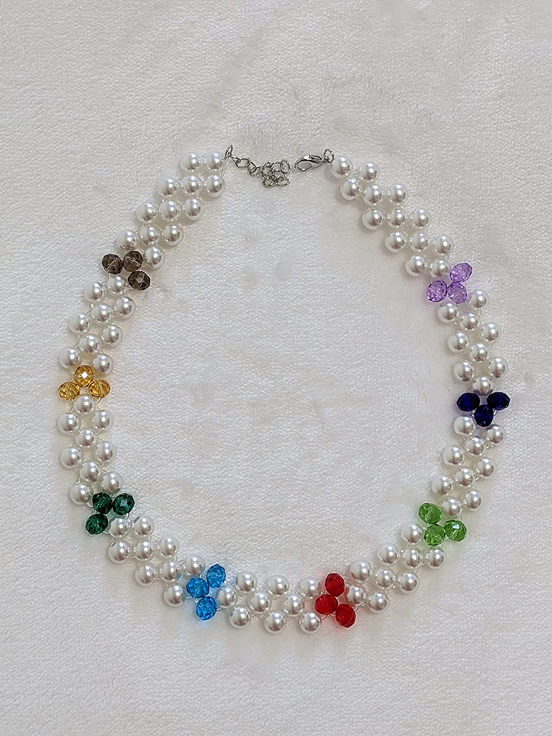 Cutelane Multicolored Max 75% OFF Faceted Crystal Beads Simul Glass Accented Selling and selling