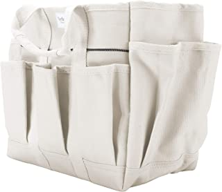 MARTHA STEWART MTS-CNVBG, 6 11-Inch Heavy-Duty Canvas Garden Bag with Interior and Exterior Pockets, with 6-Inch Pockets Inch Pockets