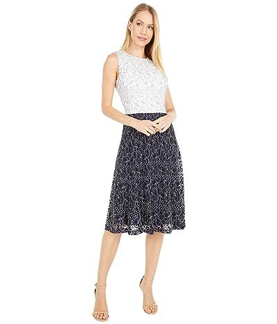 LAUREN Ralph Lauren Charley Sleeveless Day Dress (Lighthouse Navy/Lauren White) Women