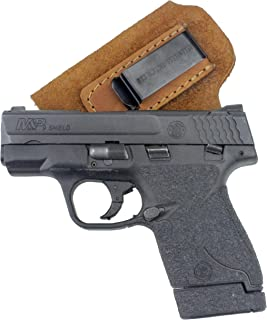 The Ultimate Suede Leather IWB Holster - Made in USA - Fits S&W M&P Shield - Glock 17 19 26 43 / Springfield XD & XDS/H&K VP9 & All Similar Handguns