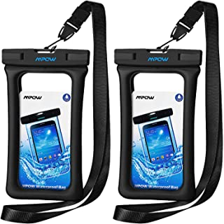Mpow Waterproof Phone Pouch Floating, IPX8 Universal Waterproof Case Underwater Dry Bag Compatible for iPhone X/8/8plus/7/...